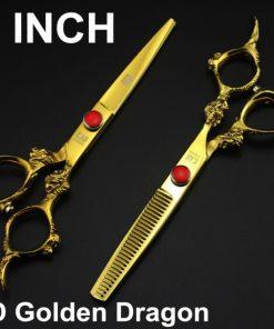 Kéo cắt tóc kasho rồng vàng