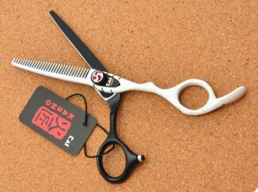 Kéo cắt tóc kasho đen trắng