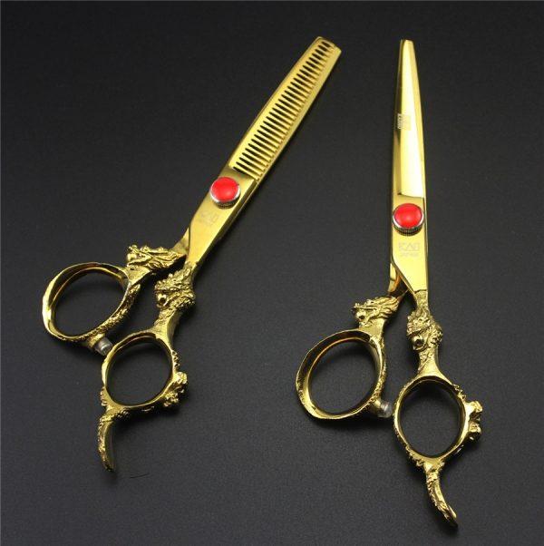 kéo cắt tóc kasho rồng vàng -1