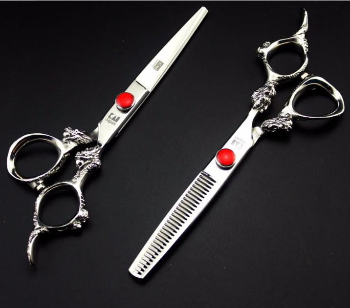 Kéo cắt tóc kasho rồng trắng